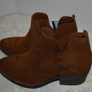 Brown Suede Boot Booties New Vitalize Ortholite